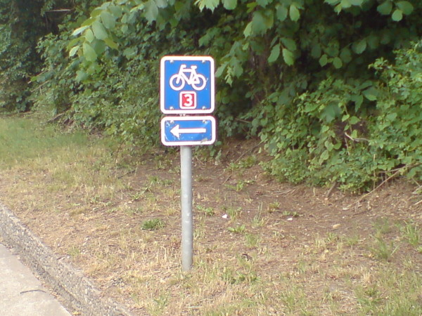 Bild 1.Heerwegschild Heerweg/Ochsenweg Dänemark Fahrrad Amelix