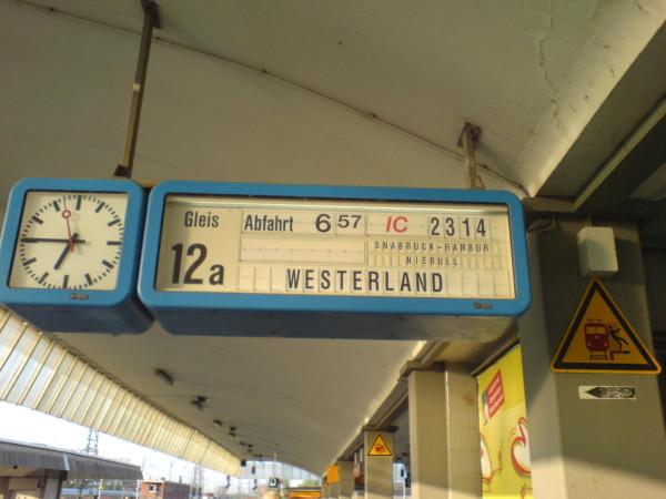 Bild: Bahnhof Münster  Heerweg/Ochsenweg Dänemark Fahrrad Amelix