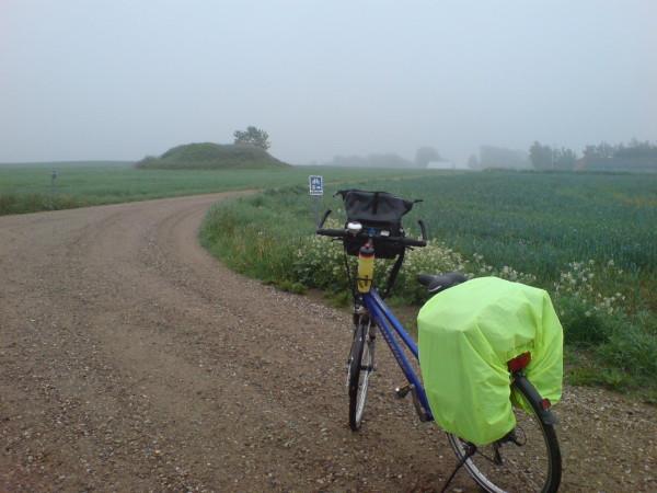 Bild: Hügelgrab bei Vojens Heerweg/Ochsenweg Dänemark Fahrrad Amelix