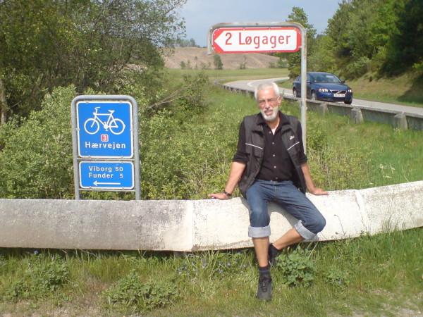 Bild: Nach rasanter Abfahrt und vor Heerweg/Ochsenweg Dänemark Fahrrad Amelix