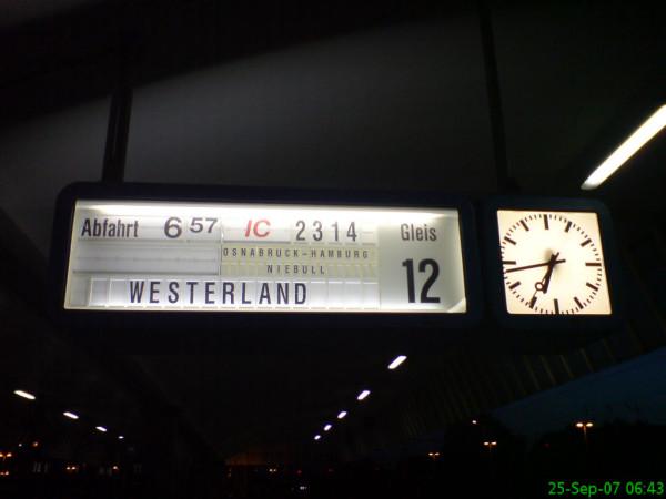 Bild:Bahnhof Münster 25.09.07 Fahrrad Amelix