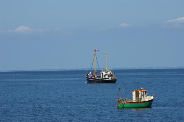 Bild:Boote im Lister Hafen Sylt Fahrrad Amelix