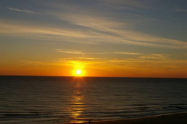 Bild: Sonnenuntergang Sylt Fahrrad Amelix