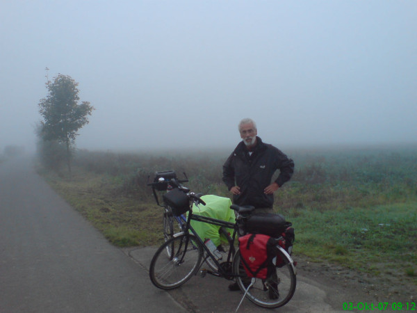 Bild: Nebel morgens in Schömmitsch 2 Fahrrad Amelix
