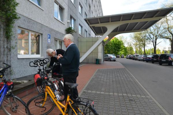 Bild: unser Hotel in Berlin Fahrrad Amelix