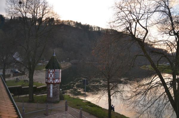 Bild: Blick nach links Diemel Radweg Fahrrad Amelix